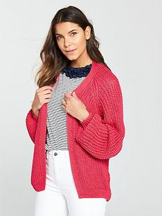 river-island-chunky-knit-cardigan--pink