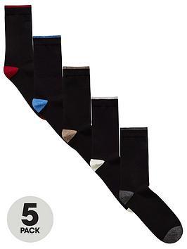 v-by-very-contrast-heel-amp-toe-5-pack-socks-black