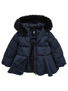mini-v-by-very-girls-fully-padded-navy-peplumnbsphooded-coat-navy
