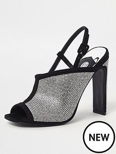 river-island-heat-seal-heeled-mule-sandal-black