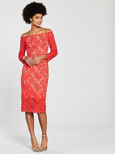coast-yasmin-lace-shift-dress-tomato-red