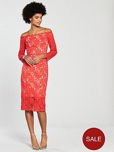coast-yasmin-lace-shift-dress-tomato-red
