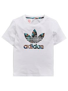 adidas-originals-younger-girls-zoo-tee-whitenbsp