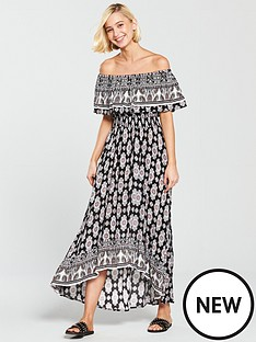 river-island-printed-bardot-maxi-dress-black