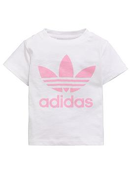 f8937382 adidas Originals Baby Girls Trefoil Tee | littlewoodsireland.ie