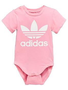 7ad9ffc2ac2 adidas Originals Baby Trefoil Bodysuit - Pink