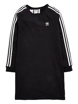 adidas-originals-girls-trefoil-dress-black