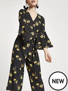 ri-petite-floral-cropped-wide-leg-jumpsuit-black