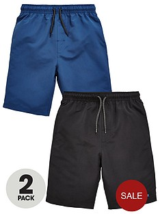 v-by-very-2-pack-blackblue-swim-shorts