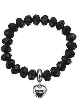 fiorelli-black-beaded-heart-drop-bracelet