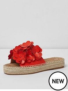 river-island-river-island-wide-fit-flower-mules--red