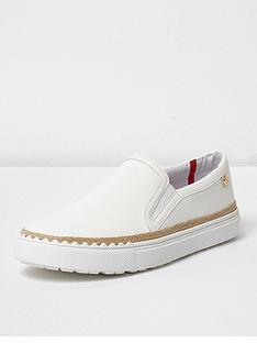 river-island-river-island-wide-fit-slip-on-plimsoll--white