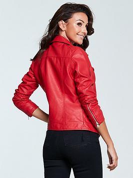 Eastbay For Sale Michelle Biker Faux Leather Keegan  Jacket Red Sale Visit Shop For Online High Quality Cheap Sale Marketable n5GBu