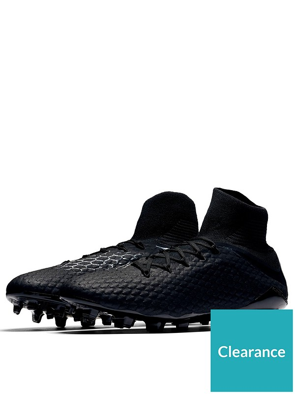 clearance prices stable quality amazing selection Hypervenom Phantom III Pro Dynamic Fit Firm Ground Football Boots - Black