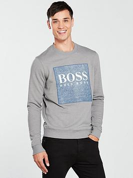 boss-casual-patch-logo-sweat-top-grey
