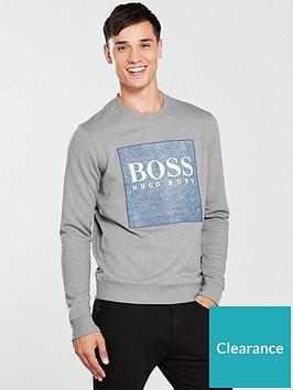 boss-casual-patch-logo-sweat-top-grey