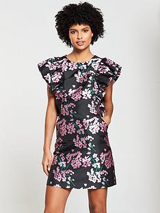 aa1a62a740d V by Very Jacquard A-Line Dress - Floral · €78