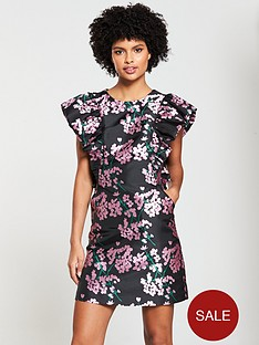 V by Very Jacquard A-Line Dress - Floral bbfe2307a