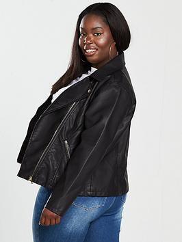 Free Shipping Low Price Fee Shipping Outlet Professional Black Jacket Biker Curve by V Very  PU Free Shipping Online ZFMf6XgTfs