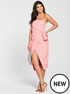 lavish-alice-bandeau-wrap-over-midi-dress-pink