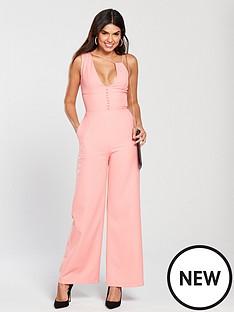 lavish-alice-multi-strap-button-detail-wide-leg-jumpsuit-pink