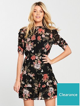 v-by-very-ruched-sleevenbspfrill-tea-dress-floral