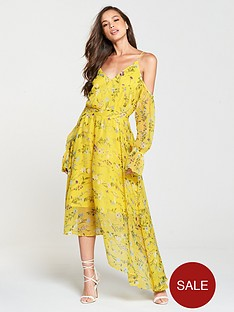 v-by-very-cold-shoulder-midi-dress-yellow