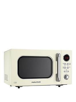 morphy-richards-800w-23-litre-microwave-cream