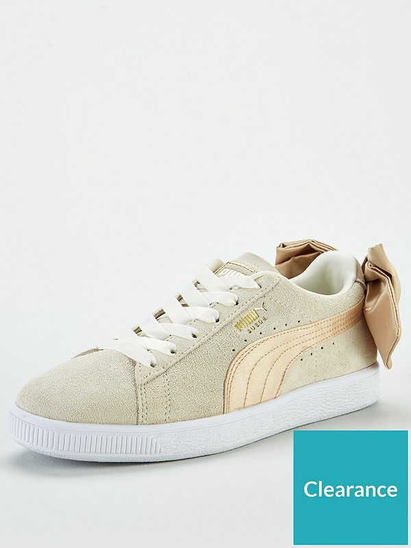 pretty nice 3860f 69d2e Suede Bow Varsity - White/Gold
