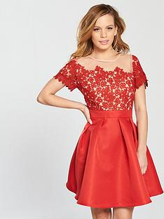 little-mistress-petitenbspmesh-top-embroidered-lace-skater-dress-cayenne-red
