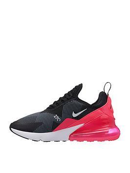 ffcb91da44 Nike Air Max 270 Junior Trainers - Black/Pink | littlewoodsireland.ie