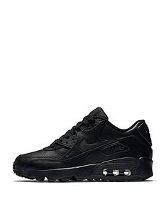 Nike Junior Air Max 90 Leather - Black 342c60182f0b