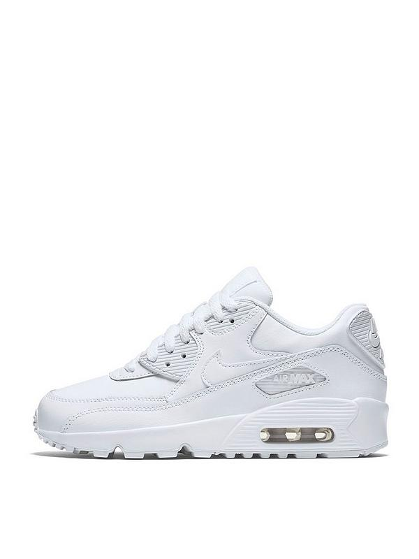 nike air max 90 trainers bianca mono leather