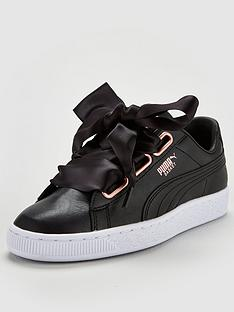puma-basket-heart-leather-trainer-black
