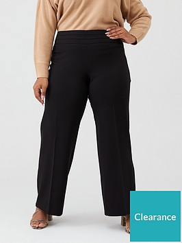 v-by-very-curve-pleated-front-wide-leg-trouser-black
