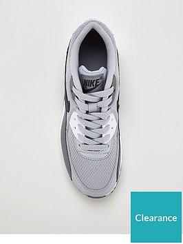 sneakers for cheap 3d17c 470d8 Nike Air Max 90 Mesh Junior Trainer - Grey Black