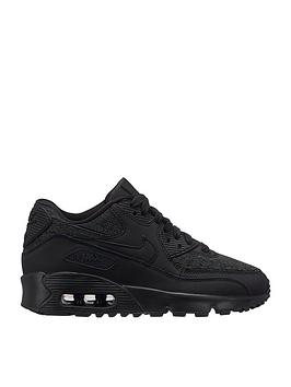 nike-air-max-90-mesh-se-junior-trainers-black