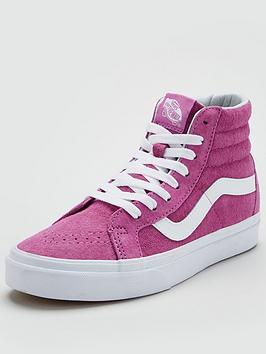 07d4b5178f Vans Sk8-Hi Reissue Suede - Pink White