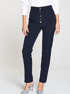 v-by-very-high-waisted-slim-leg-trouser-navy