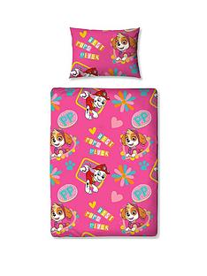 Paw Patrol Forever Skye Toddler Bed Duvet Bedding 4 Piece Set