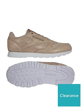 81a7530cef9 Reebok Classic Leather Childrens Trainer