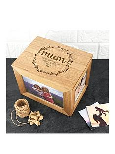 personalised-oak-photo-cube