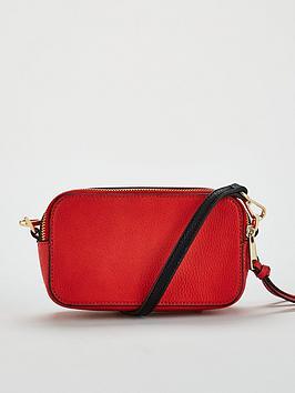 Very Red  Crossbody Double Zip Paloma V by Sast Cheap Price b4ciYy