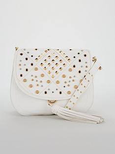 v-by-very-penny-stud-detail-saddle-bag-white