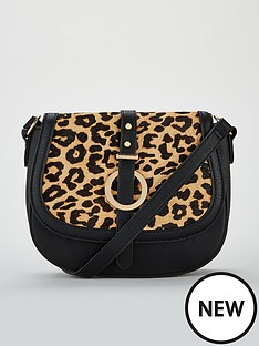 v-by-very-paige-leopard-leather-mix-saddle-bag-black