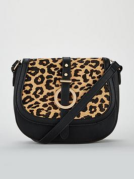 Leather Leopard  Very Black Mix Saddle Bag V Paige by Fake For Sale Cheap Sale Amazing Price Free Shipping Low Cost Cheap In China ptnGjs