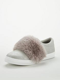 v-by-very-girls-kyla-metallic-amp-faux-fur-plimsolls-grey