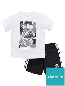74372c3e adidas Originals Baby Boys Camo Trefoil Set - Black/White ...