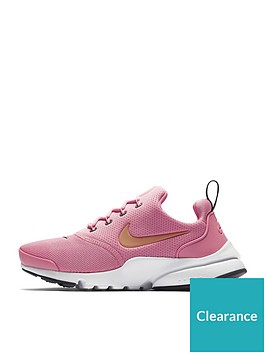 sports shoes a215d 63602 Nike Presto Fly Junior Trainers - Pink   littlewoodsireland.ie