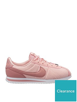 nike-cortez-basic-txtnbspse-junior-trainers-pink